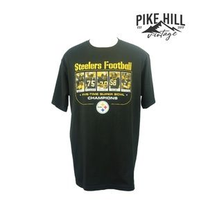 Vintage Steelers 5 Time Super bowl Champions Tee